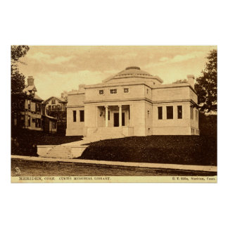 Curtis Library Meriden CT Vintage 1907 Posters