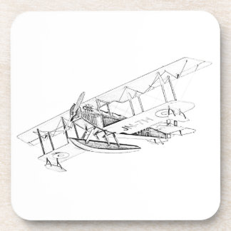 Curtiss JN-4 Jenny Float Plane Beverage Coasters