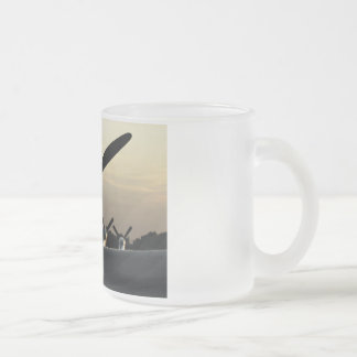 Curtiss P-40 AT Sunset Frosted Glass Mug