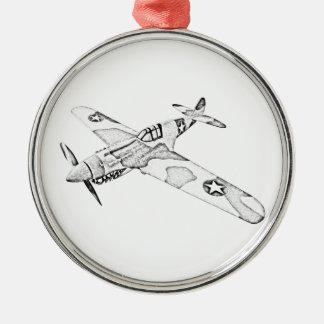 Curtiss P-40 Warhawk Aircraft Christmas Tree Ornament