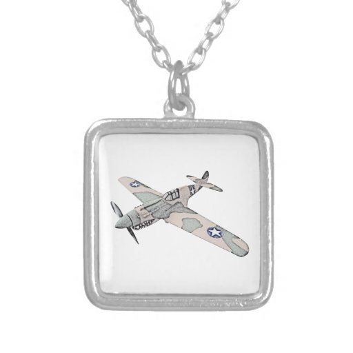 Curtiss P-40 Warhawk Aircraft Personalized Necklace