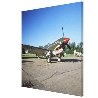 Curtiss P-40 Warhawk, at Minnesota CAF Air Show Stretched Canvas Print