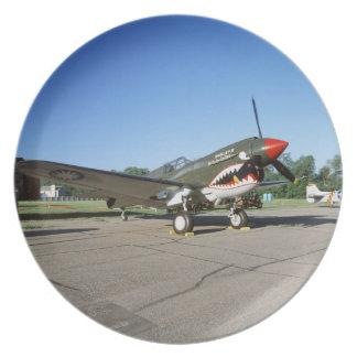 Curtiss P-40 Warhawk, at Minnesota CAF Air Show Plate