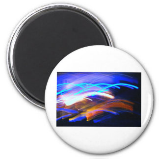 Curvaceous Color Fridge Magnet