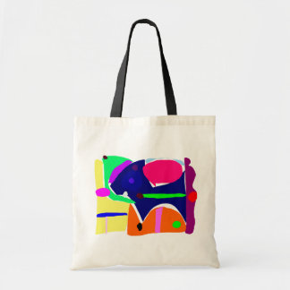 Curvaceous Eye Box Tool Lunch Canvas Bag
