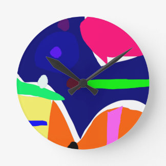 Curvaceous Eye Box Tool Lunch Round Wall Clock