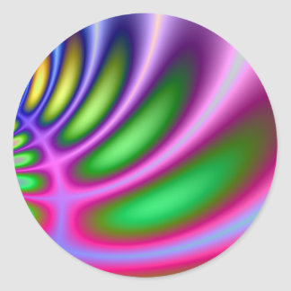 Curvature of Colors Round Sticker