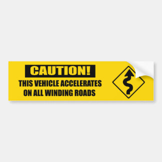 Curve Caution- yellow Bumper Sticker