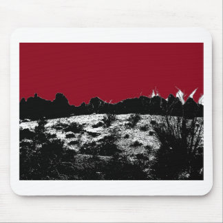Curve of Earth Dark Red Sky Over Desert Mouse Pad