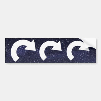 Curved Degrees Minimal Bumper Sticker