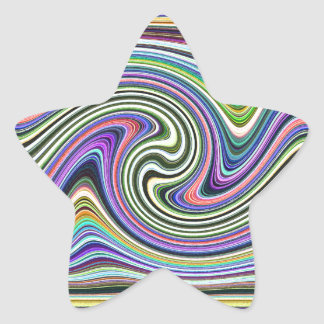 Curved Layers of Colors Star Sticker