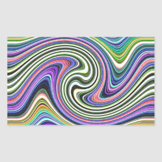 Curved Layers of Colors Rectangular Sticker