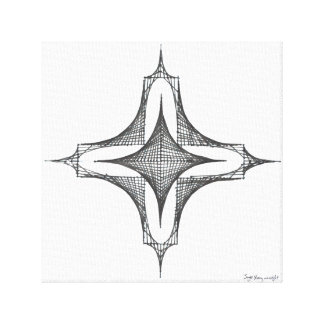 Curved Lines Canvas Print