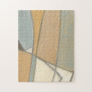 Curved Lines & Muted Earth Tones Jigsaw Puzzle