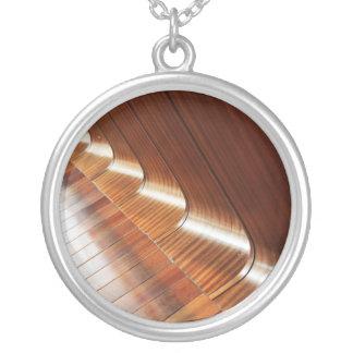Curved Polish Wood Texture Pendant