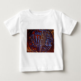 curved posterized man hole cover baby T-Shirt
