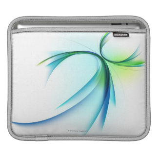 Curved shape on white background iPad sleeve