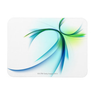 Curved shape on white background magnet