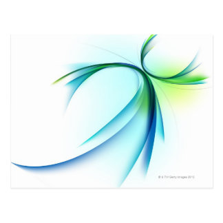 Curved shape on white background postcard