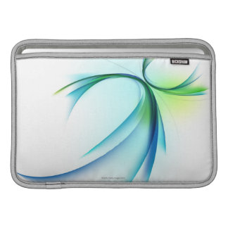 Curved shape on white background sleeve for MacBook air