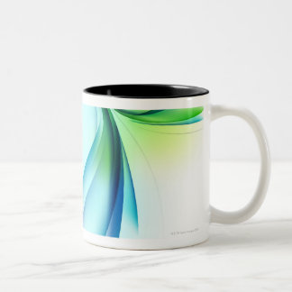 Curved shape on white background Two-Tone coffee mug