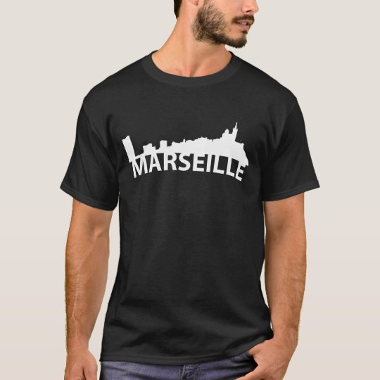 Curved Skyline Of Marseille France T-Shirt