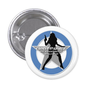 """CURVED SPACE """"Stellhouette"""" 1.25 Inch Button"""