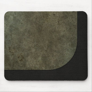Curved Steel Plate Graphic on Industrial Mesh Mouse Pad