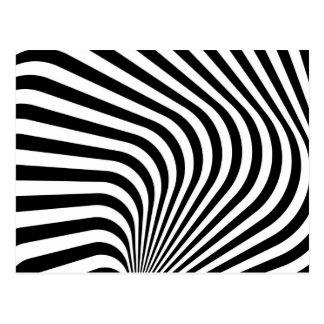 Curved Zebra Stripe Pattern Post Cards