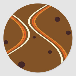 Curves and Dots Classic Round Sticker