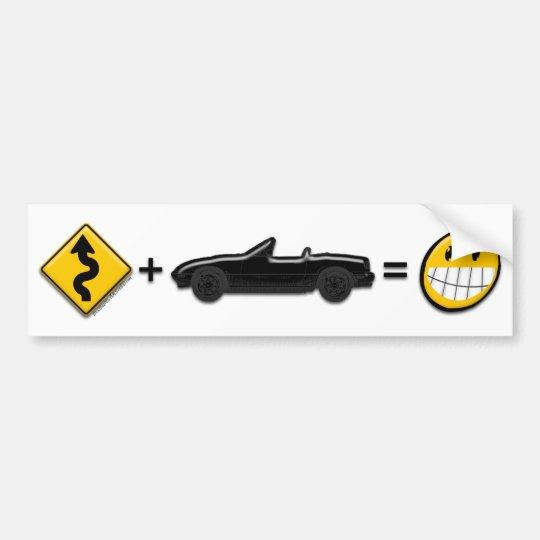Curves + MX5 = Fun bumper sticker