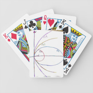 Curves of the Second Order Bicycle Playing Cards