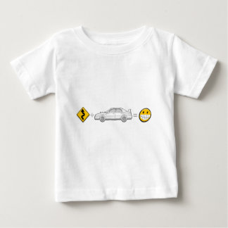 Curves, Subaru, equals fun Baby T-Shirt