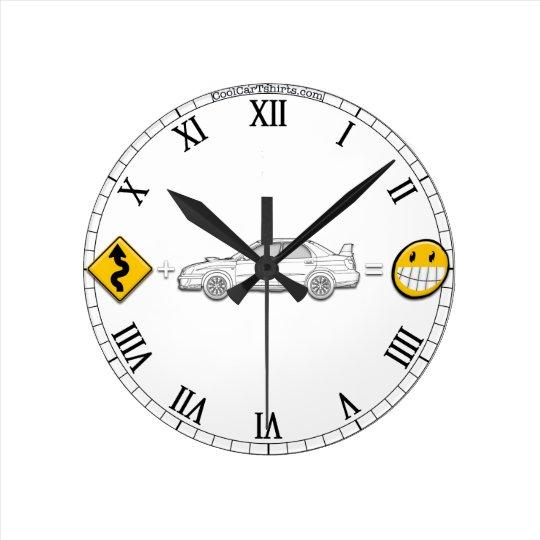 Curves, Subaru, equals fun Clock