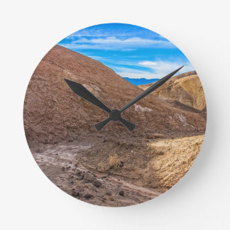 Curving Riverbed at Zabriskie Point. Round Clock