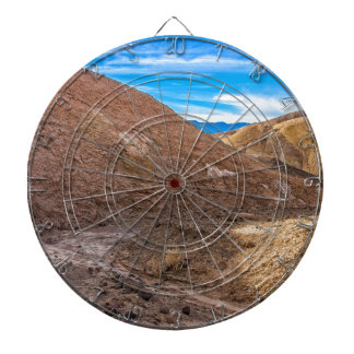 Curving Riverbed at Zabriskie Point. Dartboard With Darts