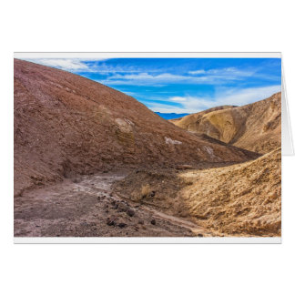 Curving Riverbed at Zabriskie Point. Greeting Card