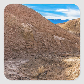 Curving Riverbed at Zabriskie Point. Square Sticker