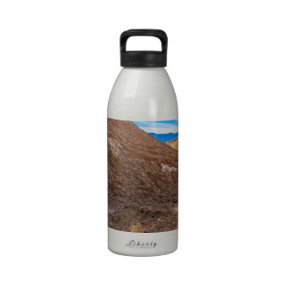 Curving Riverbed at Zabriskie Point. Water Bottle