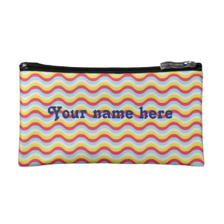 Curvy squiggly lines makeup bag