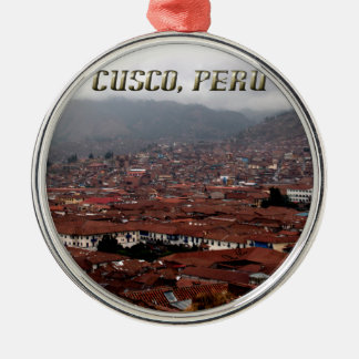 Cusco City Skyline Peru Christmas Ornament