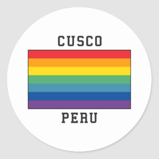 Cusco, Peru Flag Classic Round Sticker