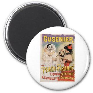 Cusenier Vintage Wine Ad Art 6 Cm Round Magnet
