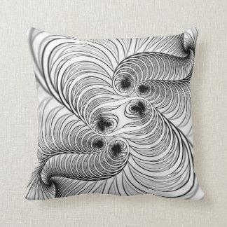 Cushion Black and White Spiral
