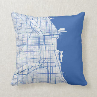 Cushion Chicago urban Pattern BLUE