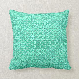 Cushion, Elegant Aquamarine green cushion