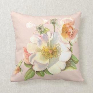 Cushion - Floral Cream Rose Design