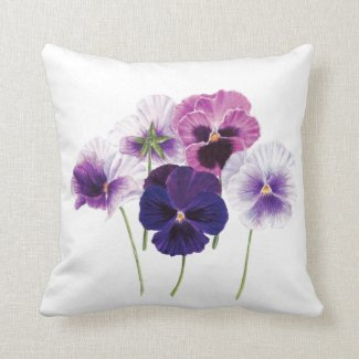 Cushion - Floral Pansy Design