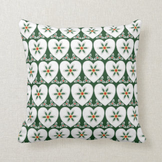 Cushion for new home with christmas snow hearts