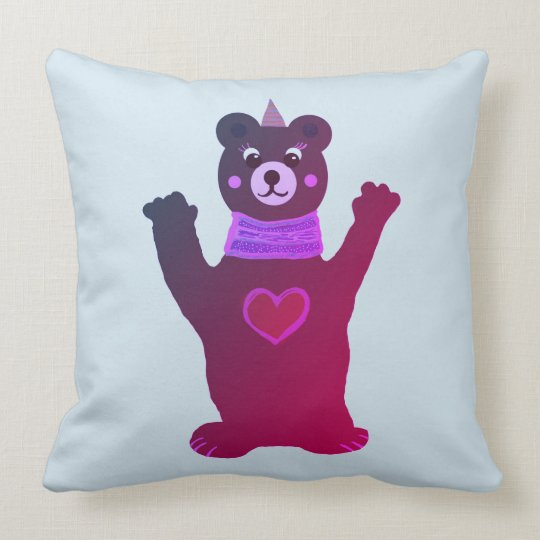 Cushion Kids Room Brown Lady bear